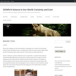 SiOWfa14 Science in Our World: Certainty and Cont