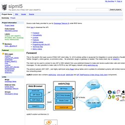 sipml5 - The world's first HTML5 SIP client