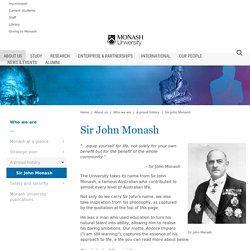 Sir John Monash - Monash University