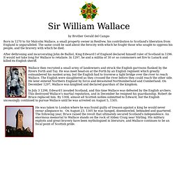A biography of sir malcolm wallace