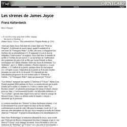 Les sirenes de James Joyce (Franz Kaltenbeck)