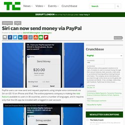 Siri can now send money via PayPal