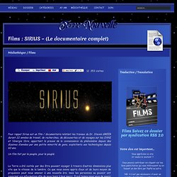 Films : SIRIUS – (Le documentaire complet)