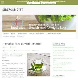 Top 9 Sirt Boosters-Easy Sirtfood Snacks - SIRTFOOD DIET