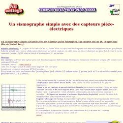 ExAO - Réaliser un sismographe avec des capteurs piézoélectriques