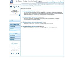 Le Bureau Central Sismologique Français (BCSF) - Intensités macrosismiques