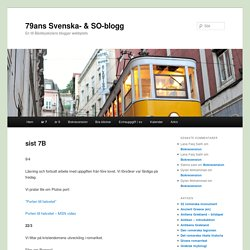 79ans Svenska- & SO-blogg