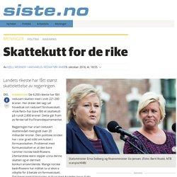 Skattekutt for de rike