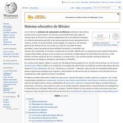 Sistema educativo de México