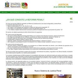 Nuevo Sistema de Justicia Penal Nuevo León