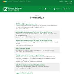 Sistema Nazionale di Valutazione - Normativa docenti
