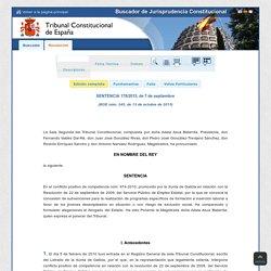 Sistema HJ - Resolución: SENTENCIA 178/2015