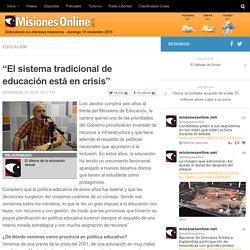 """""""El sistema tradicional de educación está en crisis"""""""