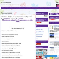 70 sistemas php, java,csharp,c# gratis mas su codigo fuente ~ Tusolutionweb