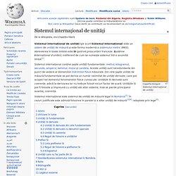 Sistemul internațional de unități