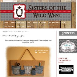 Sisters of the Wild West: Denim Pocket Organizer