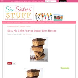 Easy No Bake Peanut Butter Bars Recipe