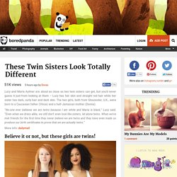 These Twin Sisters Look Totally Different