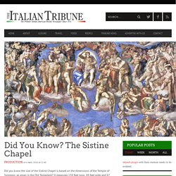 Did You Know? The Sistine Chapel