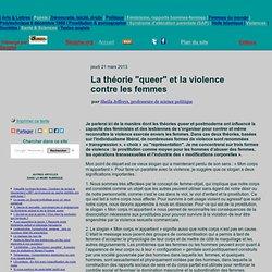 """La théorie """"queer"""" et la violence contre les femmes"""