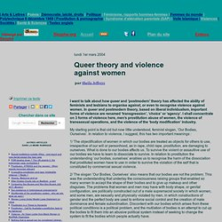 Queer theory and violence against women