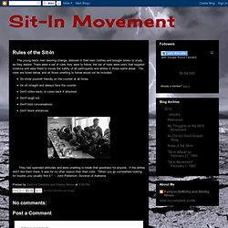 Rules of the Sit-In