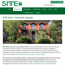 SITE 2016 - Savannah, Georgia - SITE