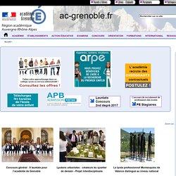 Site de l'académie de Grenoble - Accueil