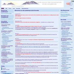 site académique socle Grenoble