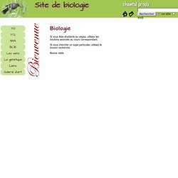 Site de Chantal Proulx