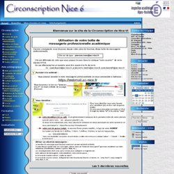 le site de la Circonscription de Nice VI