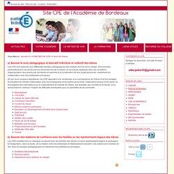 Site CPE de l'Académie de Bordeaux