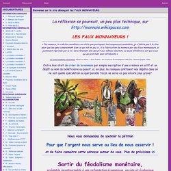 le site dénonçant les FAUX MONNAYEURS