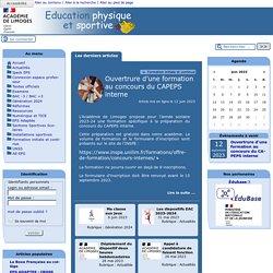 EPS - Académie de Limoges