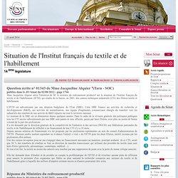 Site du sénat, IFTH, réponse ministre sur le financement