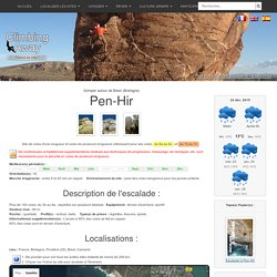 Site d'escalade Pen-Hir - info, topo, localisation...