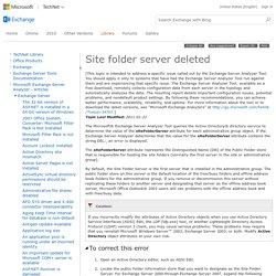 Site folder server deleted