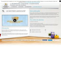 Le site de la Fondation Ronald McDonald