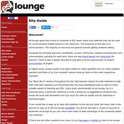 Site Guide: How to use esl-lounge.com