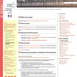 site IA40: Langue française