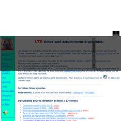 Le site d'un instit: fiches pratiques.
