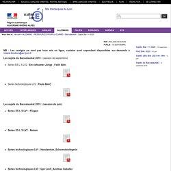 Site Interlangues Ac-Lyon - Sujets Bac => 2020