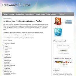 Le top des extensions Firefox