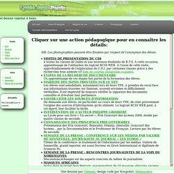 Actions pédagogiques du lycée Jacques Pellerin