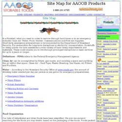 Site Map AAOOB Storable Foods
