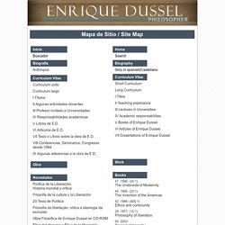 Site Map / Mapa de Sitio- Enrique Dussel -