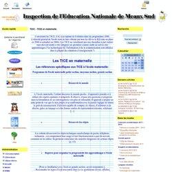 le Site de l'IEN de Meaux Sud - TUIC - TICE en maternelle