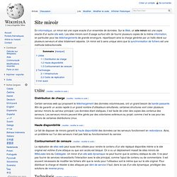 Projets informatiques pearltrees for Miroir wikipedia