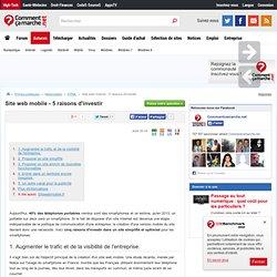 Site web mobile - 5 raisons d'investir