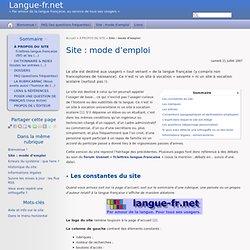 langue-fr.net : mode d'emploi